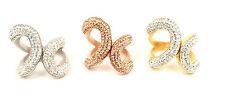 Edelstahl Ring Damen 27mm rosegold Gold silber Edelstahl Mode Zirkonia