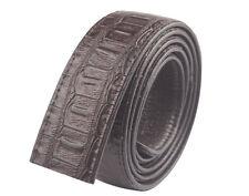 1PCS Crocodile Pattern Automatic Strap Leather Belt 3.5cm Without Buckle