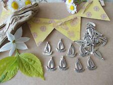 SAILBOATS, Pack of 20 Silver Tibetan Metal Charms,Pendant,Boat,Sailing,Sea,