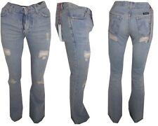 Jeans zampa elefante uomo donna Slim Fit strappati bootcut Svasati W26 W27 Voice