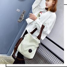 Canvas Literary Women's Crossbody Shoulder  Handbag School Bags Large Capacity