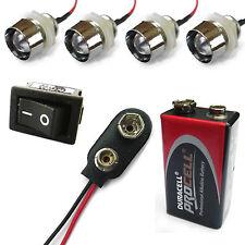 4 x A COLORI COMBINAZIONI R/C AUTO BUGGY CAMION 10mm LED + PP3 Kit batteria