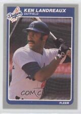 1985 Fleer #375 Ken Landreaux Los Angeles Dodgers Baseball Card