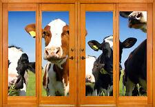 Pegatinas ventana trampantojo l'ojo Vacas ref 2540 ( 10 dimensiones )