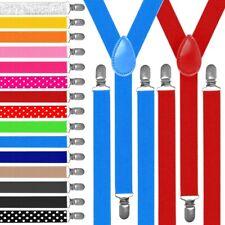 Tirantes Elásticos Estrecho Ajustable Pantalones Y-diseño Clip Clip de Disfraces