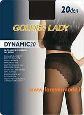 10 Collant donna Golden Lady Dinamic20 velato con slip corpino ricamato sgambato