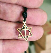 Jews for Jesus Star of David Jewish Cross Christianity Necklace Pendant Jewelry