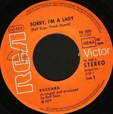 "BACCARA sorry i'm a lady  love you till i die german PB 5555 wol 7"" WS EX/"
