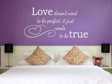"""Wall Art Romantico """"Love deve essere vero"""", decalcomania in vinile, trasferimento moderno"""