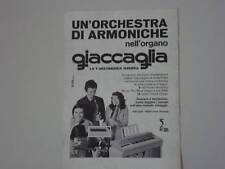 advertising Pubblicità 1973 GIACCAGLIA