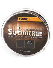 Fox Submerge hundido braided mainline 600m Dark camo karpfenschnur braided Line
