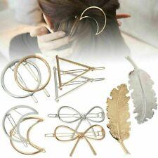 Elegant Women Geometric Hair Clips Barrettes Accessories Pins Clip Fastening Pin