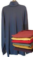 Tom James Men's Turtle Neck Shirt Cotton Long Sleeve L LT XL XLT XXL 1X 7 Colors