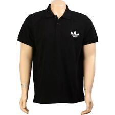 $65.00 Adidas Pique Emblem Polo (black / white) W56058