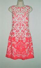 NWT MSRP $154 - LAUREN RALPH LAUREN Spring Sleeveless Dress, Coral, Sizes 10 16