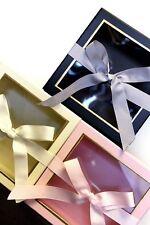 Set of 2 luxurious everlasting flower gift bouquet presentation keepsake boxes