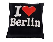 decoración cojín con relleno 40 x 40cm impresión me encanta Berlín 85089 Negro