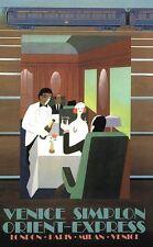 Vintage Orient Express Fine cuisine affiches A3/A2 Print