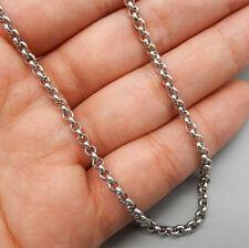 Erbskette Rolo 3mm Halskette Edelstahl Kette 50 60 70 80cm für Anhänger