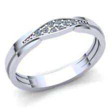 0.1ctw Round Cut Diamond Ladies Stackable Anniversary Wedding Band 18K Gold