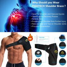 Black Shoulder Brace Support Strap Wrap Belt Dislocation Neoprene Pain Relief OS