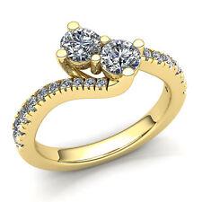 Genuine 0.25carat Round Cut Diamond Ladies Forever Us Engagement Ring 10K Gold