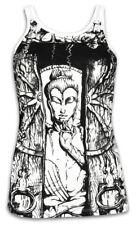 SURE Damen Tank-Top Buddha Das Rad des Lebens Yoga Buddhismus Baum Goa Psy S M L