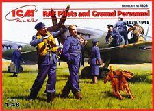 RAF programas piloto y personal de tierra 1939-1945 figuras con equipo (7) 1/48 ICM