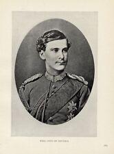 1899= OTTO DI BAVIERA (fratello di Ludwig)= ANTICA FOTO