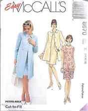 8670 UNCUT Vintage McCalls SEWING Pattern Misses Unlined Jacket Dress FF OOP SEW