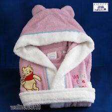 Accappatoio Ricamato Winnie Rosa Cappuccio Baby 18 mesi Ricamo Disney Caleffi