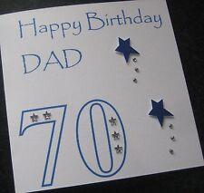 Personalised Handmade Birthday Card Dad Son Husband Grandad Grandpa ANY AGE(G11)