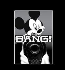 Bang Cartoon Mouse Pulling The Trigger Gun Gangsta Humor Funny T-Shirt Tee