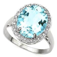 Damen Ring Belana, 925er Silber, 5,96 Kt. echter Blautopas/Diamant