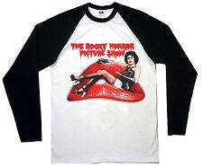 Rocky Horror Camiseta Mangas Largas retro de Béisbol de Raglán película de culto Presentación de imágenes