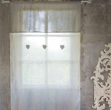 Tenda lunga o finestra cuori e pois Blanc Mariclo 140x280 cm 60x180cm
