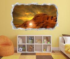 3D Wandtattoo Landschaft Berg Sonne Tapete  Aufkleber Wandbild Wohnzimmer 11P119