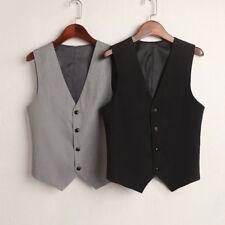 Women Suit Vest Waistcoat Sleeveless Coat Jacket Tuxedo Slim Work Gilet Workwear