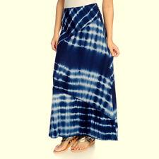 NEW One World Tie Dye Elastic Waist Maxi Skirt Multiple Sizes Available