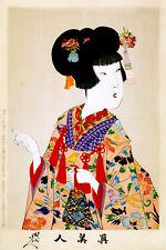 Vintage Decoration & Design Asian POSTER.Lovely Sexy Geisha.Room Decor.915