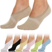 Levante Steps naturel weiß schwarz STBU Ballerina Ballerinas Füßlinge 2 Paar
