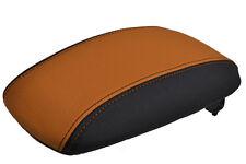 Fits vauxhall vectra b cuir accoudoir couverture cuir orange