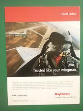 3/2008 PUB RAYTHEON C3I MISSION SUPPORT CAPABILITIES F-16 USAF ORIGINAL ADVERT