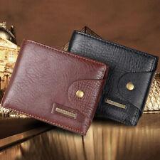 Men's Bifold Leather Credit ID Card Holder Wallet Coin Pocket Billfold Purse