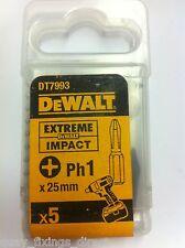 Dewalt DT7993 PH1 25 MM Extreme Impact Screwdriver Bits fit Makita Bosch Hitachi