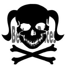 Skull n Cross Bones With Wrench 3 Vinyl Decal Window Sticker Car Truck ATV ETC.