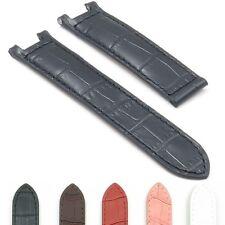 DASSARI London Crocodile Ladies Leather Watch Band Croc Strap for Cartier Pasha