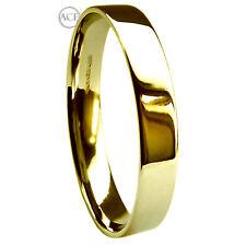 3mm 9 Ct Oro Amarillo Media Caña Invertida Perfil Alianzas 2,8 G Pesado Bandas