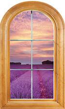 Adesivo finestra ad arco inganna l'occhio decocrazione Lavanda ref 612