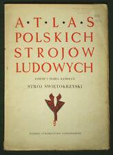 BOOK ATLAS OF POLISH FOLK COSTUME Swietokrzyz Holy Cross Mountains ethnic dress